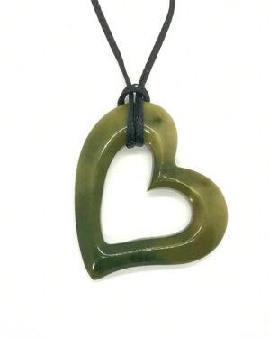 Heart Pounamu Greenstone pendant