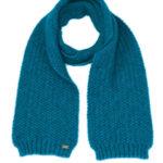 KO1010 moss stitch scarf pacific