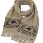 KO129 kiwi scarf mocha