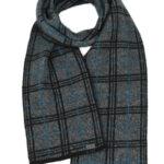 KO158 tartan scarf grey blk pac