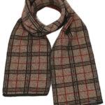KO158 tartan scarf mocha esp rata