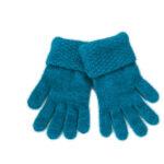 KO310 moss stitch trim gloves pacific