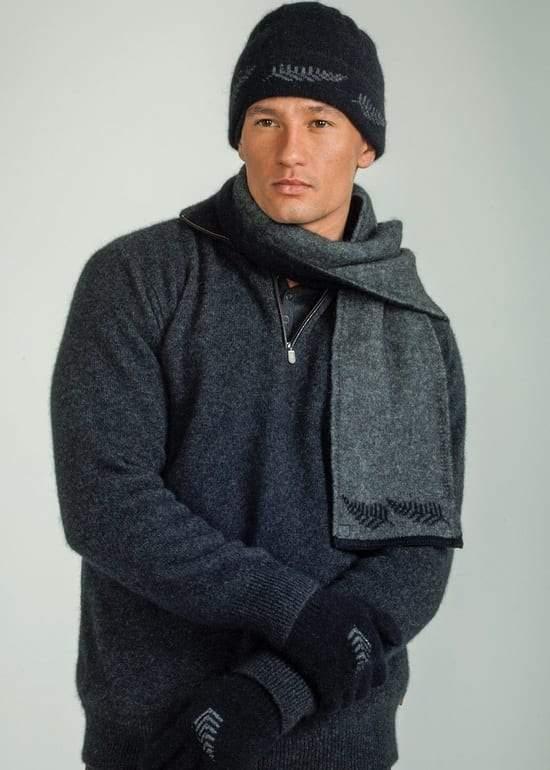 Fern Beanie scarf gloves Koru knitware