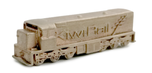 Brass miniature Kiwirail locomotive tranzalpine