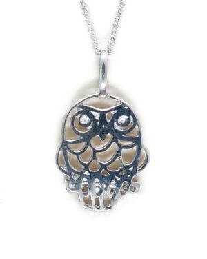 sterling silver pendant morepork owl