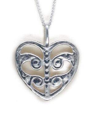 Sterling Silver Koru Heart