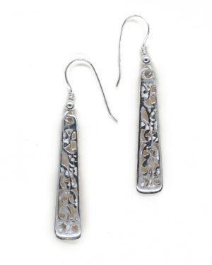 Koru motif earring sterling silver