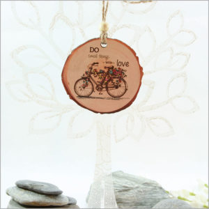 Wood Slice Ornament Bicycle