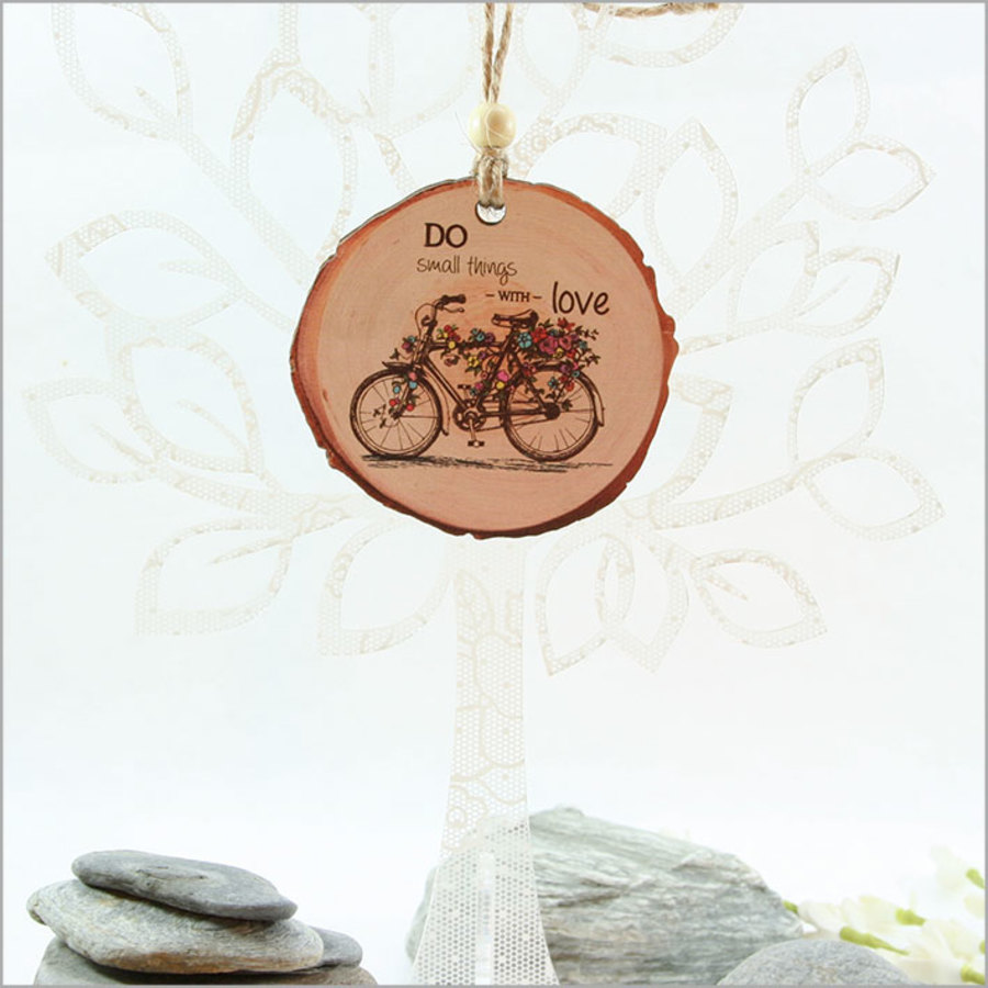 Wood Slice Ornament Bicycle