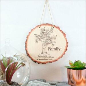 Wood Slice Art Family Tree