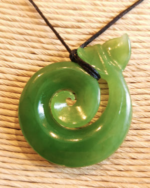 Koru Whale's Tail greenstone pounamu jade ross crump