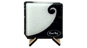 Koru Furl glass coaster Maori boy