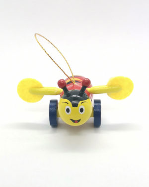 Mini Buzzy Bee Wood Toy Ornament