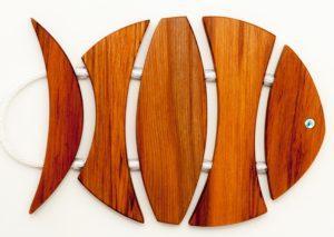 Fish RImu Timber Paua Table Mat