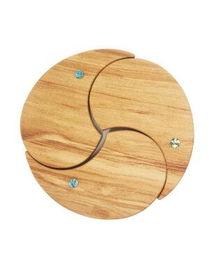 Rimu timber Kiwi tablemats Paua Romeyn Woodcrafts