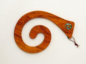 Koru tablemat rimu timber paua