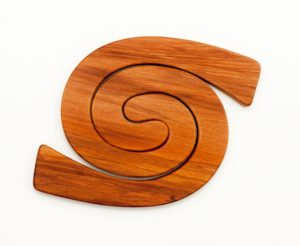 Koru Table mat NZ Rimu Timber