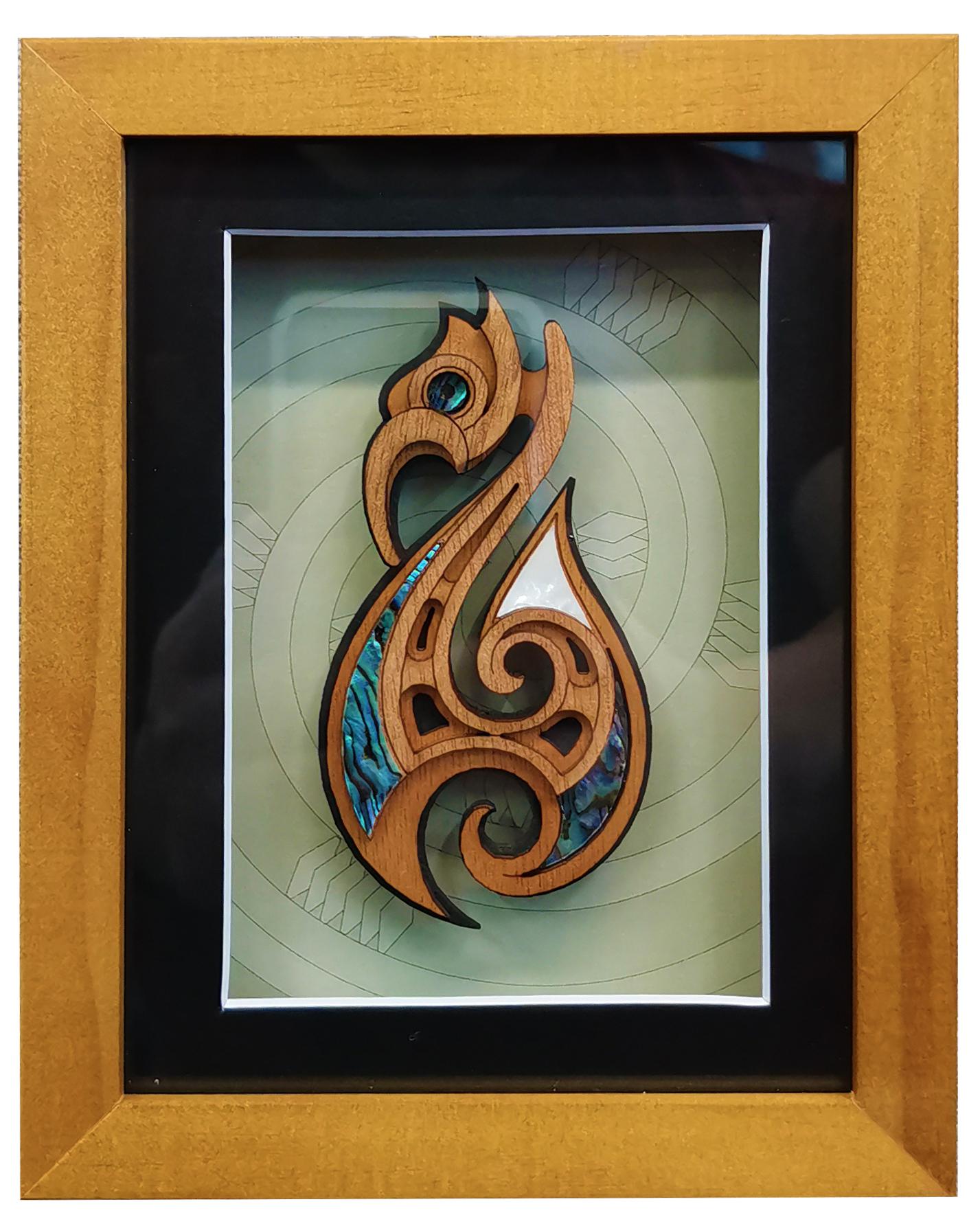 Fishhook framed art